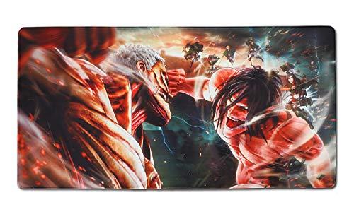 CoolChange Großes Attack on Titan Gaming Mauspad, XXL Manga Tischauflage, Motiv: Kampf der Titanen