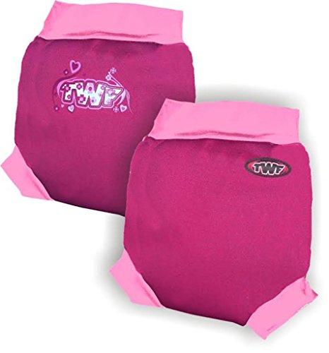 TWF - Pañal para Nadar - para bebé niño Rosa Pink Princess XL 12-24 Meses