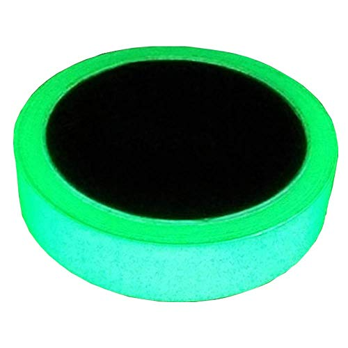Delidge Removable, Waterproof, Photoluminescent Glow in the Dark Safety Green Tape (20 ft Length x 0.8 inch Width)