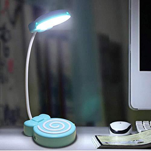 Nachtlichter Für Kinder Led Nachtlicht Lade Gangschaltung Led Bunte Lollipop Touch Schreibtischlampe Augenschutz Nachttischlampe-Rose Rot