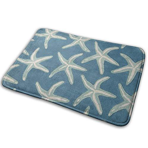 DENETRI DYERHOWARD Bath Mat Starfish Coastal Wool Non Slip Bath Rug Washable Bathroom Soft Kitchen Floor Door Mat