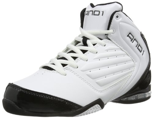 AND1 Unisex-Kinder Master 2 MID Boy's Basketballschuhe, Weiß (White/Black-Silver), 36 EU