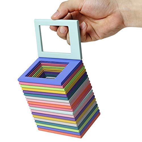 Rehomy Magnetischer Bilderrahmen für Kühlschrank, Spinde, Magnet-Bilderhalter, 6,2 x 4,5 cm, 1 Stück (zufällige Farbe)