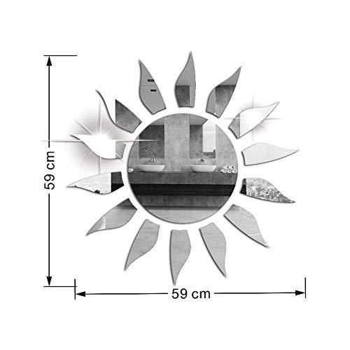 Redcolourful 3D Acrílico Sol Forma Espejo Superficie