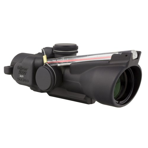 Trijicon TA50-C-400235 ACOG 3x24mm Compact Low Heightx 40mm, Dual Illuminated Red Crosshair 7.62x39/123 Grains Ballistic Reticle, Black