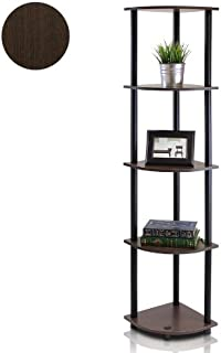 Furinno 99811DB-WG/BK Turn-N-Tube 5 Tier Corner Shelf,...