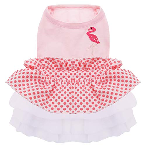 kyeese Dog Dress Tiered Ruffle Dog Dresses for Small Dogs Polka Dot Dog Birthday Dress Dog Party Dress