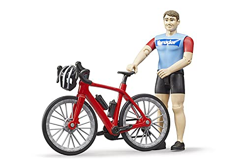 Bruder 63110 - Bworld Rennrad mit Radfahrer und Helm