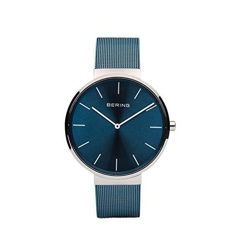 BERING Unisex Analog Quarz Classic Collection Armbanduhr mit Edelstahl Armband und Saphirglas 16540-308