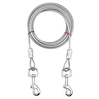 Jinlaili Câble d'attache pour Chiens jusqu'à 80 kg, Animaux de Compagnie Plomb pour Chiens de Petite, Moyenne ou Grande Taille (Blanc, 5M)