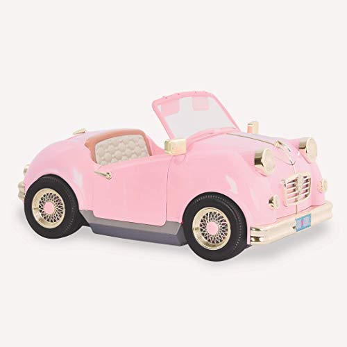 """Our Generation by Battat- in The Drivers Seat Retro Cruiser- Doll, Car & Accessories for 18""""- for Age 3 Years & Up"""