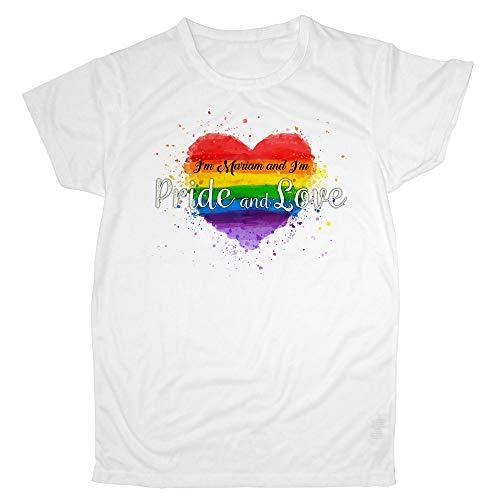 LolaPix Camiseta Dia del Orgullo LGTBQ Personalizada con tu Nombre o Texto | Varios Diseños y Tallas a Elegir | Regalo Original y Exclusivo | Heart Pride