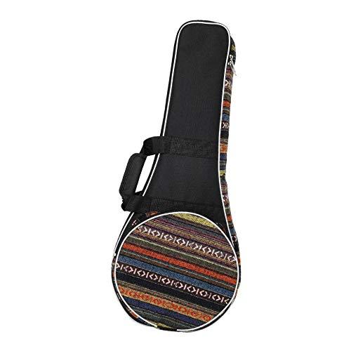 P Prettyia Mandolinentasche 10mm Polsterung, Oxford Stoff Mandolinen Koffer Rucksack, Ca. 695 x 275 x 72 mm