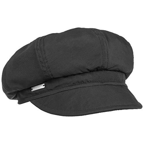 Seeberger Rain and Sun Ballonmütze Damencap Newsboy-Mütze Baker-Boy-Mütze Regencap Sonnencap Wintercap (One Size - schwarz)