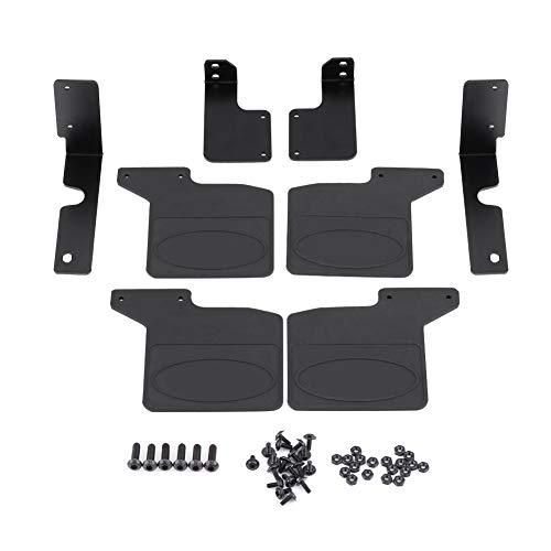 RC Mud Flap, Black Mud Flap y Accesorio de actualización de aleación de Aluminio Compatible con TRX-4 1/10 Escala RC Crawler Car