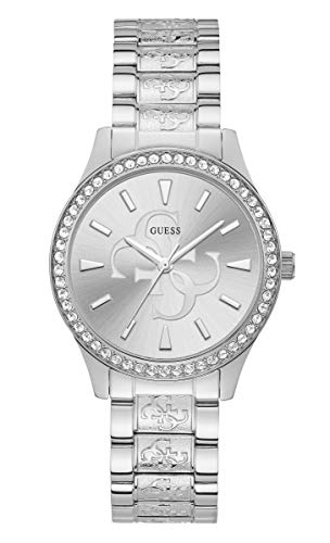 GUESS Women's 38mm Steel Bracelet & Case Quartz Silver-Tone Dial Analog Watch W1280L1