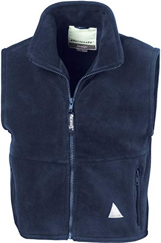Result Re37j Polartherm Gilet sans Manches pour Enfant, Enfant, RE37J, Bleu Marine, Medium/Size 8-10