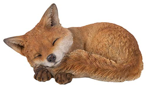 Real Life Sleeping Fox Cub | Resin Home or Garden Decoration | XRL-FCB3-D