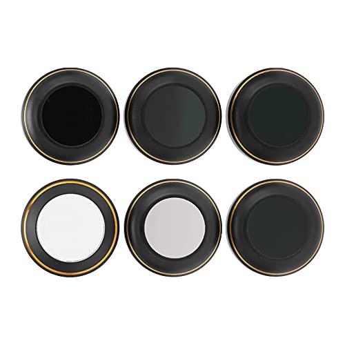 EVTSCAN Set di filtri per obiettivi per Fotocamera 6 Pezzi Set di obiettivi per Fotocamera UV CPL ND‑PL8/16/32/64 per DJI Mavic PRO