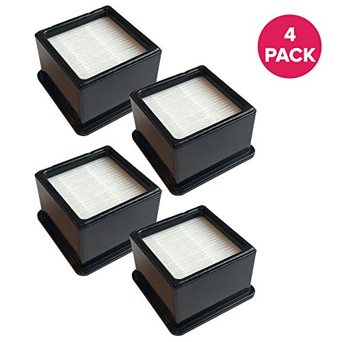 Crucial Vacuum Replacement Vacuum Filters - Compatible with Dirt Devil F-43 Easy Lite Cyclonic Bagless Foam Vacuum Cleaner Filter - HEPA Style - Replace Parts #F43 2PY1105000 1PY1106000 (4 Pack)