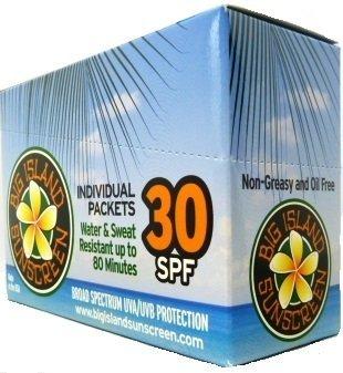 Big Island Sunscreen box of 50 single use packets