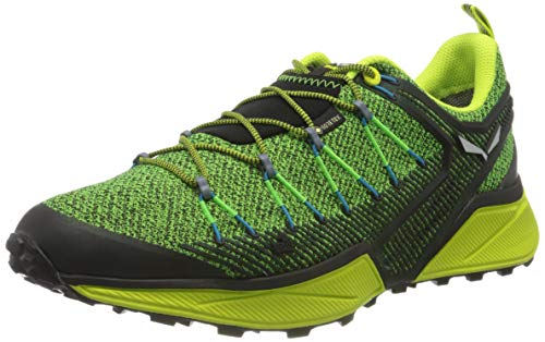 Salewa Herren MS Dropline Gore-TEX Traillaufschuhe, Black Out/Blue Danube, 43 EU