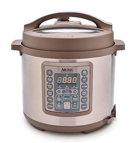 Aroma Housewares Professional MTC-8016 Digital Pressure Cooker, 6 quart, Brown