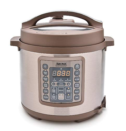 Aroma Housewares Professional MTC-8016 Digital Pressure Cooker, 6 quart, Brown