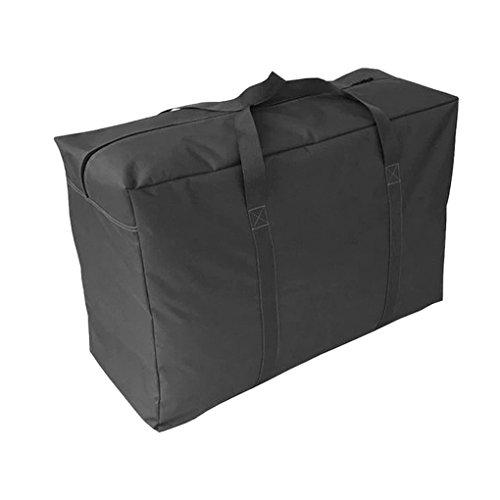 Extragroße Aufbewahrungstasche, schwarz Transporttasche Reisetasche, College-Tragetasche Schutzhülle für Spielzeug Waschen und Wäschesack 85*55*33CM