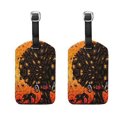 VORMOR Gepäckanhänger (Sortiert, 2 PK),Afrikanische Safari Animal Silhouette Landscape SceneGepäckanhänger, Kofferanhänger für Rucksäcke