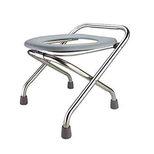 Z-SEAT Silla de Inodoro para Ancianos - Silla móvil con Inodoro Silla Plegable con Inodoro para discapacitados Silla portátil móvil Antideslizante para Mujeres Embarazadas Sillas de
