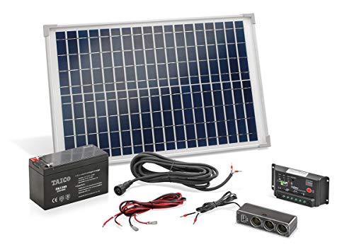 Solar Set 20W mit Akku Bausatz Solaranlage Inselanlage Camping, esotec 120005