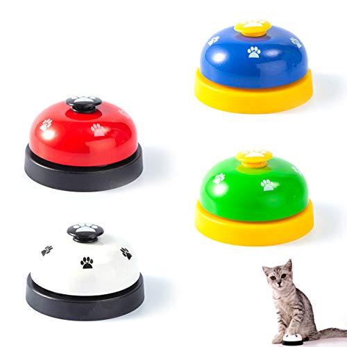 LTHERMELK 4 Campana De Entrenamiento para Mascotas con Fondo Antideslizante Juguete De Campana para Mascotas Perro Gato Entrenamiento para IR Al Baño Juego Mental