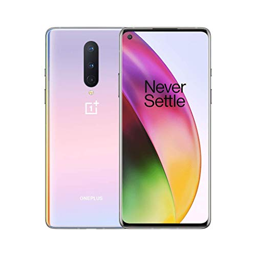 Oneplus 8 interstellar glow, 5g unlocked android smartphone u. S version, 12gb ram+256gb storage, 90hz fluid display,triple camera, with alexa built-in (renewed)