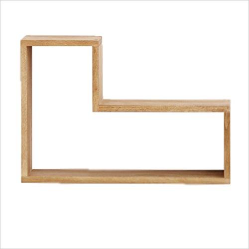 Li Li Na Shop Creatieve eenvoudige massief hout muur mount eiken woonkamer muur mount zwevende planken muur gemonteerde display rack woonkamer afwerking planken