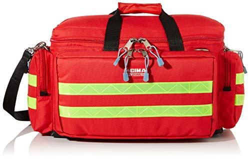 GIMA - Emergency Smart Bag, Rot Farbe, Polyester, leere, Trauma, Rettungsdienst, ärztliche, Erste Hilfe, Krankenpfleger, Mehrtaschenbeutel für Sanitäter, 55x35x32 cm