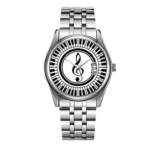 Orologio da uomo di lusso 30 m impermeabile datario maschile orologi sportivi uomini quarzo casual orologio da polso Natale cerchio chiavi pianoforte e chiave di violetto orologio da polso