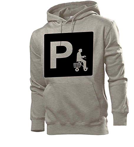 Generisch Parken mit Rollator Männer Hoodie Sweatshirt Grau XXL - shirt84.de
