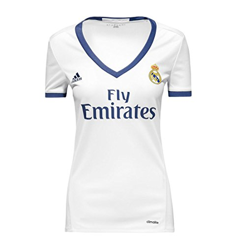 adidas Real Madrid CF Home Womens Jersey-Crywht (XL) White