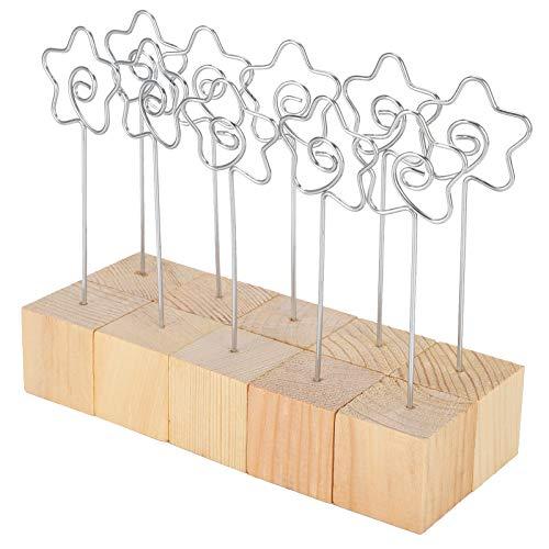 Memo Clips Soporte de clip metálico Forma de flor para fiestas de aniversario para regalos de boda para notas