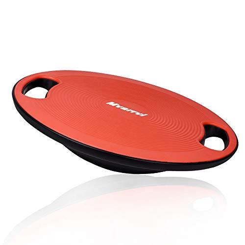 Mvarrvi バランスボード トレーニング ダイエット器具 滑り止め エクササイズ 持ち運び コアマッスル 耐荷重100キロ 直径40cm 丸形 運動 健康 姿勢 初心者 (レッド)