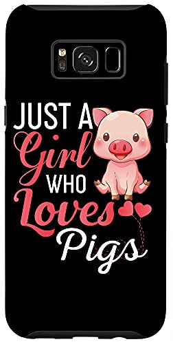 Galaxy S8+ Just A Girl Who Loves Pigs Phone Case - Pig Mom Case