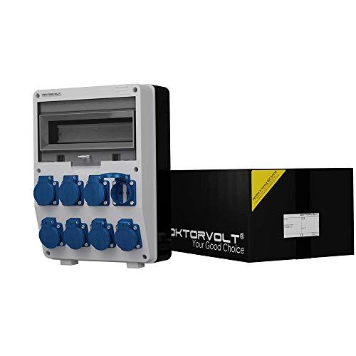 Stromverteiler IP54 TD 8x230V Mennekes Dosen Wandverteiler Steckdosenverteiler Baustromverteiler Doktorvolt 6367