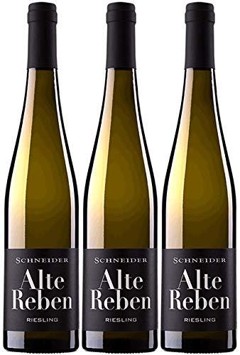 Markus Schneider Riesling Alte Reben 2019 3er Paket | Weißwein aus Deutschland | Pfalz | (3 x 0.75l)