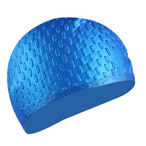 YGCLOTHES Nuoto Cappelli, cap Nuotata in Silicone, Nuoto Cappelli Antiscivolo Impermeabile Protezione di Bagno, per Gli Uomini Le Donne, Adulti, Bambini,Blu