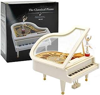 SKEIDO Valentine's day gift, Dancing girl piano music box, rotary ballerina box, sky city music box crafts