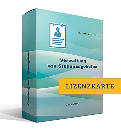 Verwaltung von Stellenangeboten [nur Lizenzschlüssel, ohne Datenträger]