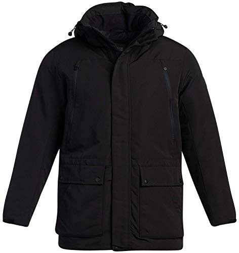 Perry Ellis Men's Winter Coat - Heavyweight Parka Jacket with Cargo Pockets, Size Large, Black