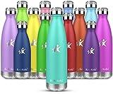 KollyKolla Gourde INOX Isotherme - 650ml, Bouteille d'eau Acier Inoxydable à Double Paroi Reutilisable...