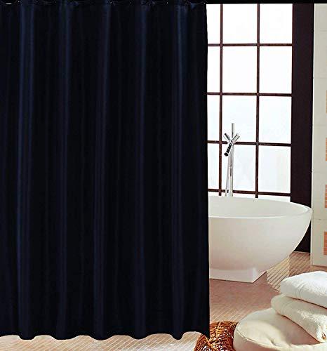 KAV - Duschvorhänge, Duschvorhang aus Polyester, Anti-Schimmel, Anti-Bakteriell, Schimmelresistenter und Wasserabweisend mit 12 Duschvorhangringen, 180 x 180 cm, Schwarz